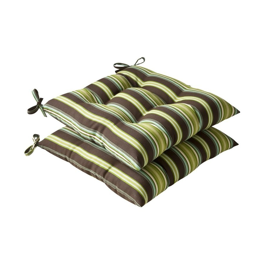Pillow Perfect Lyndhurst Brown Green Stripe Seat Pad For Universal
