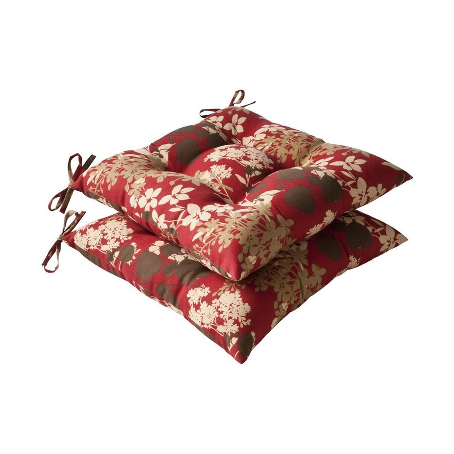 Pillow Perfect Montifleuri Red Brown Floral Seat Pad For Universal
