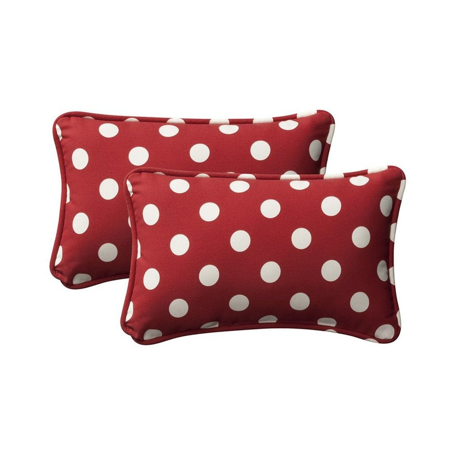 Decorative Pillows Rectangular : Shop Pillow Perfect Unbranded Polka Dot Red Rectangular Throw Pillow at Lowes.com