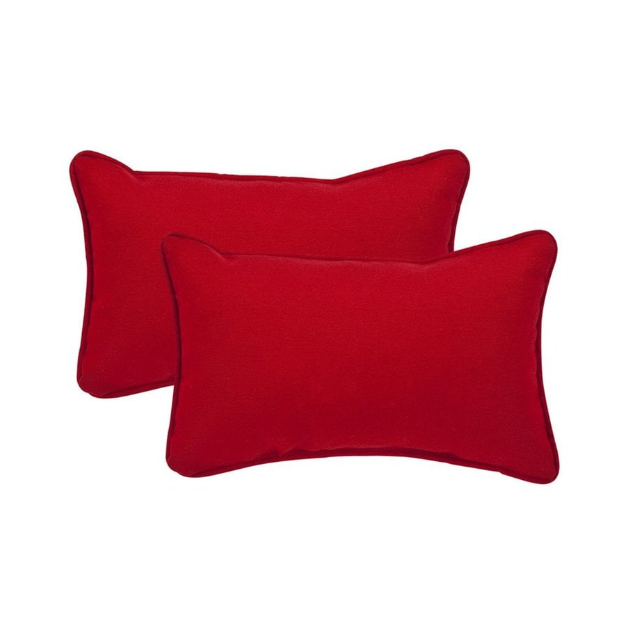 Shop Pillow Perfect Unbranded Solid Red Rectangular Throw Pillow at Lowes.com