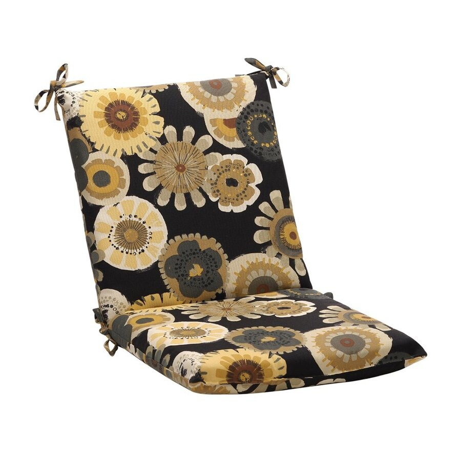 Pillow Perfect Crosby Black Yellow Floral Cushion For Universal