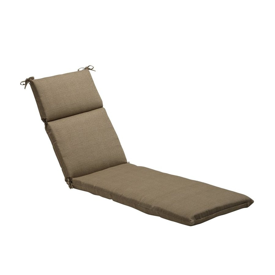 Pillow Perfect Solid Textured Taupe Solid Cushion For Chaise Lounge