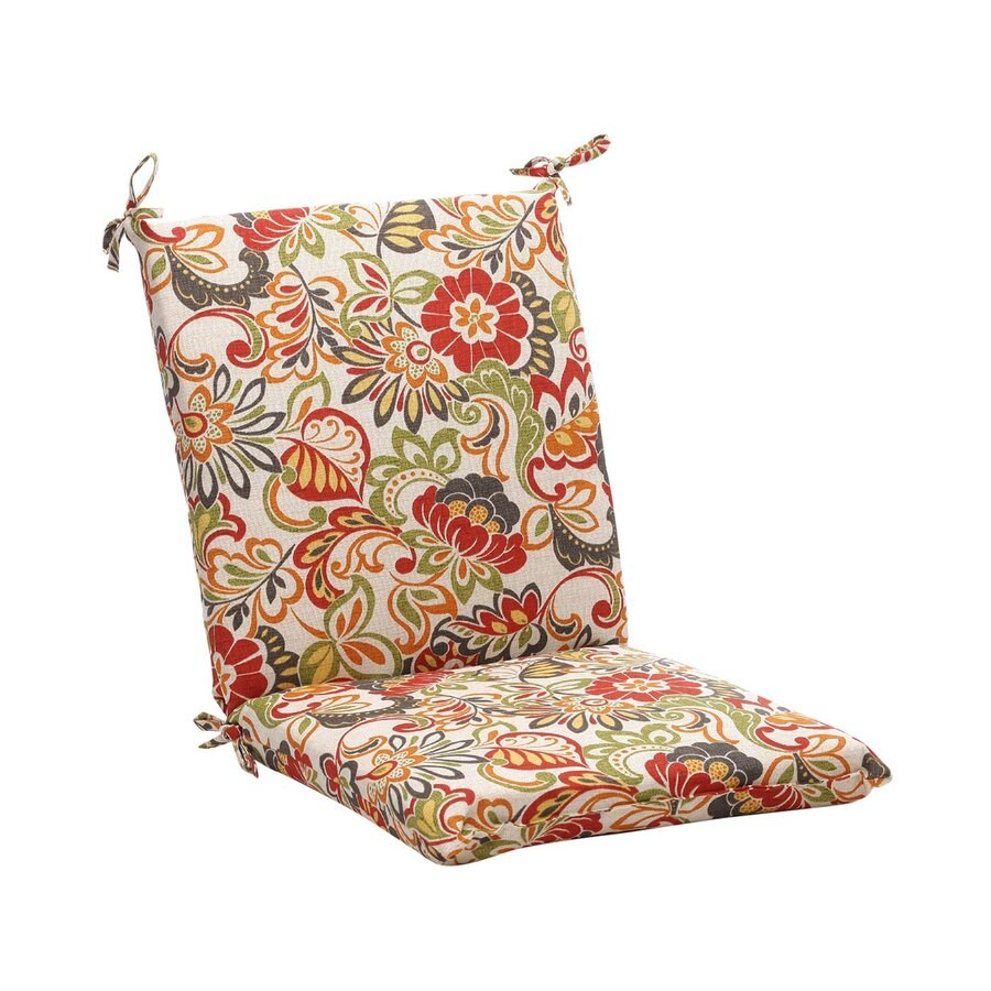 Pillow Perfect Square Floral Multicolored Unbranded Standard Patio Chair Cushion