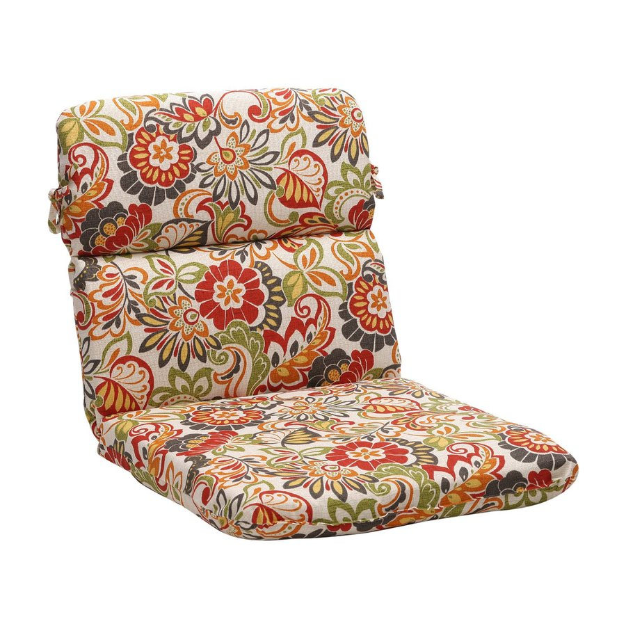 Pillow Perfect Zoe Multicolored Floral Standard Patio Chair Cushion