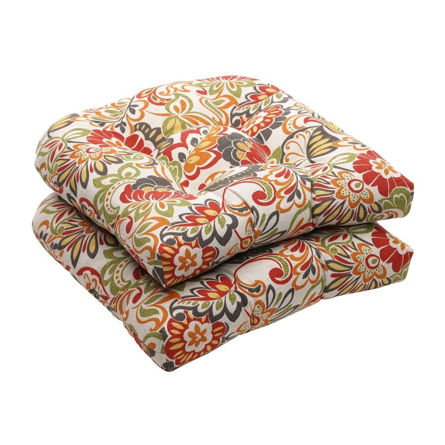Pillow Perfect Floral Multicolored Universal Seat Pad