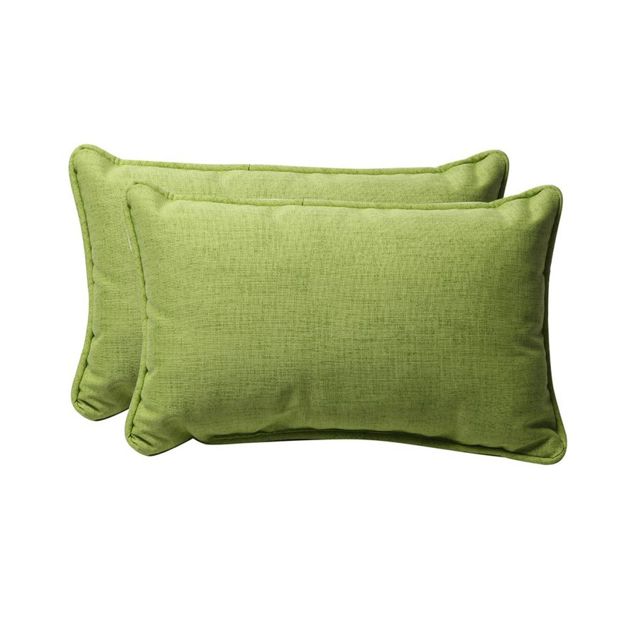 Solid Decorative Throw Pillows : Shop Pillow Perfect Solid Textured 2-Pack Lime Solid Rectangular Outdoor Decorative Pillow at ...