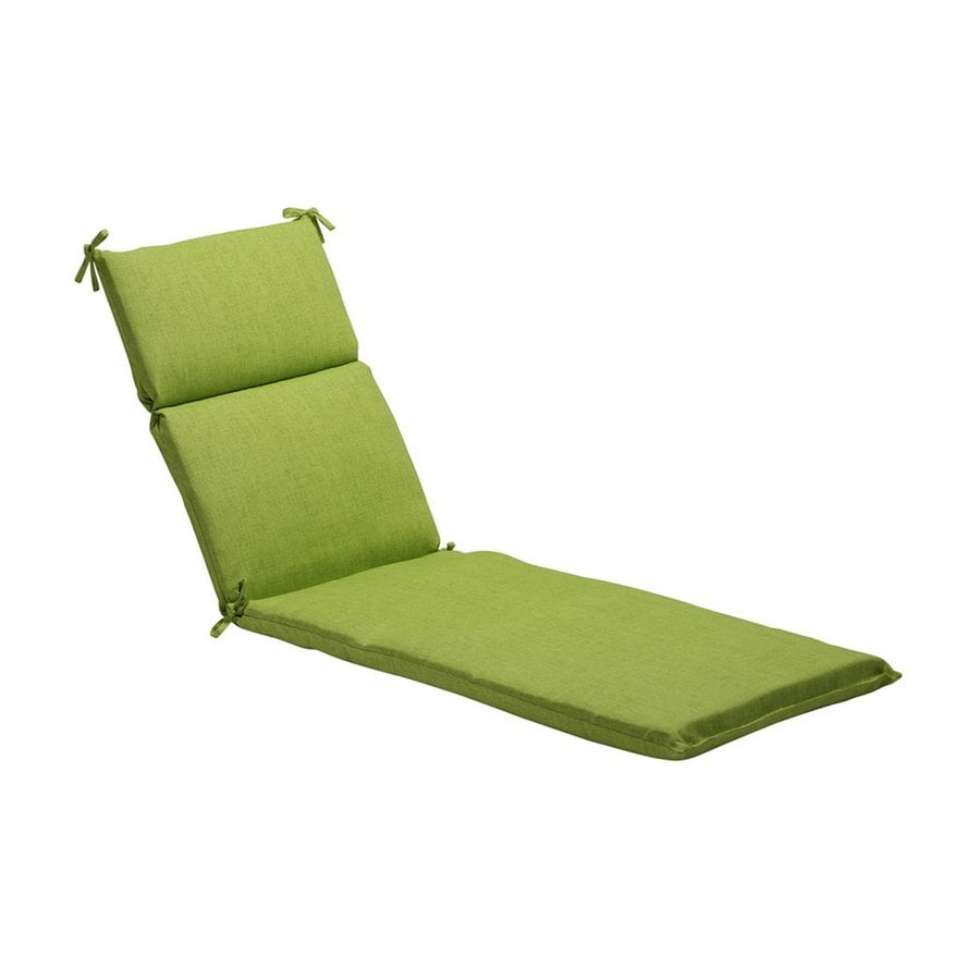 Pillow Perfect Solid Textured Lime Solid Standard Patio Chair Cushion for Chaise Lounge