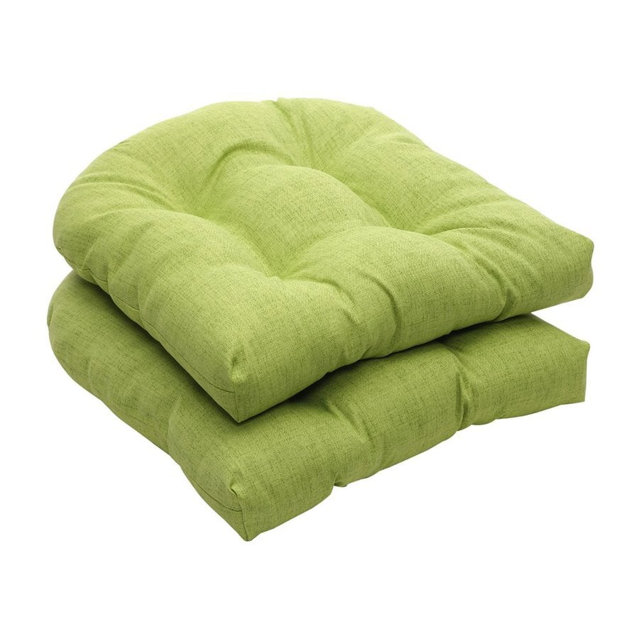 Pillow Perfect Rectangle Solid Lime Sunbrella Seat Pad