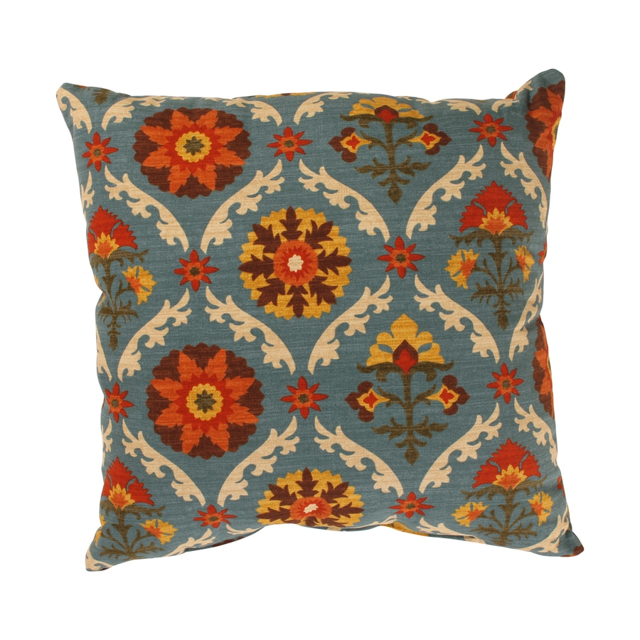 Decorative Pillow Covers Lowes : Shop Pillow Perfect 18-in W x 18-in L Indoor Decorative Pillow at Lowes.com