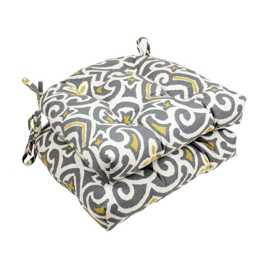 Pillow Perfect Damask Greystone Geometric Seat Pad For Universal
