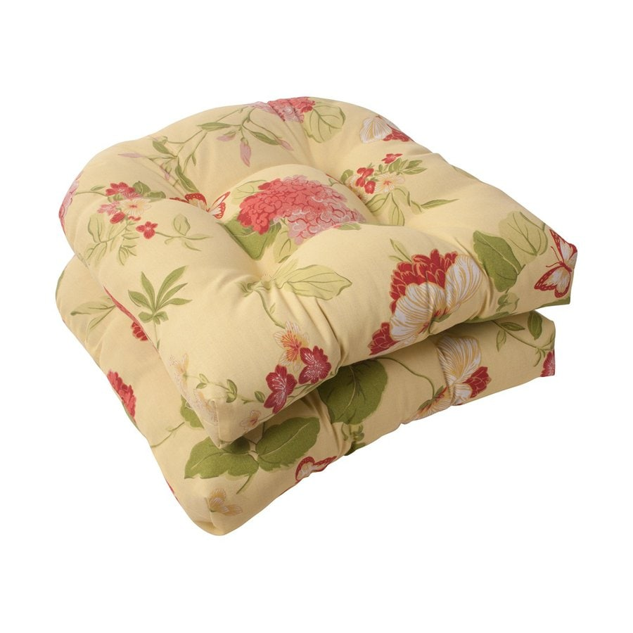 Pillow Perfect Rectangle Floral Multicolored Unbranded Seat Pad