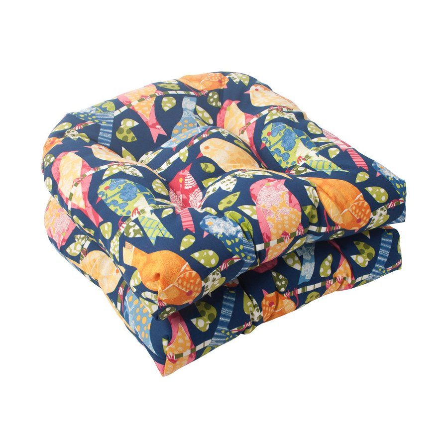 Pillow Perfect 2-Piece Multicolored Seat Pad
