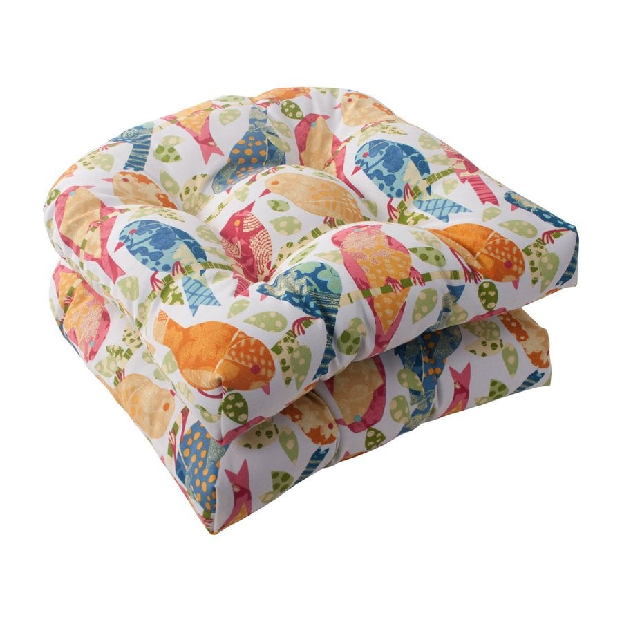 Pillow Perfect Ash Hill Multicolored Tropical Seat Pad For Universal