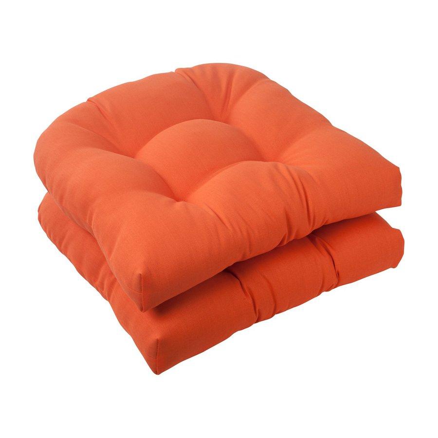 Pillow Perfect Solid Orange Universal Seat Pad