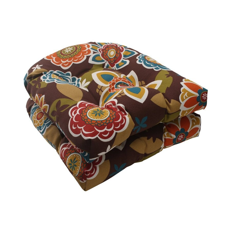 Pillow Perfect Annie Multicolored Floral Seat Pad For Universal