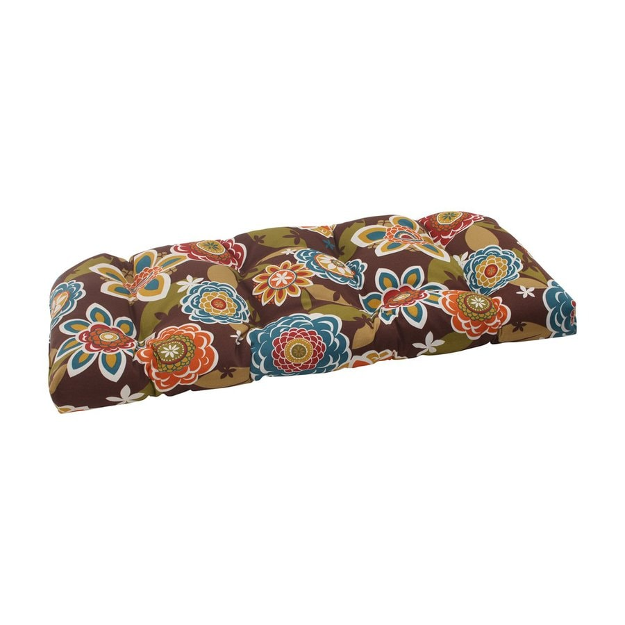 Pillow Perfect Rectangle Floral Multicolored Seat Pad