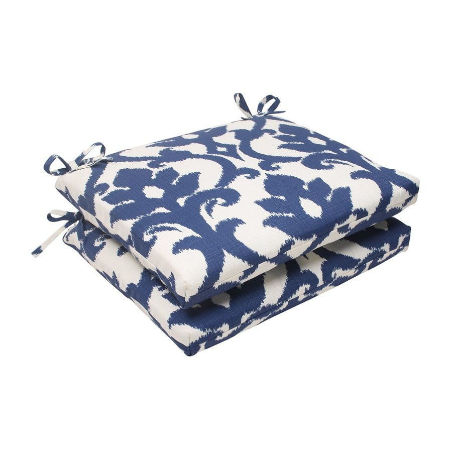 Pillow Perfect Square Damask Navy Unbranded Seat Pad