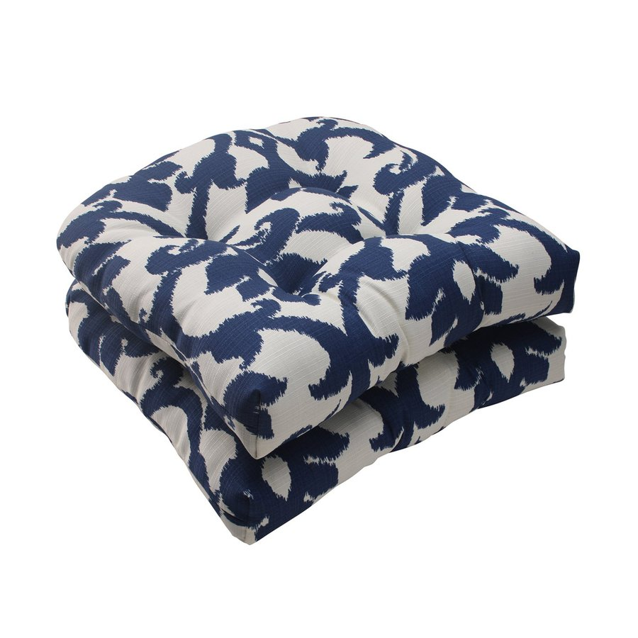 Pillow Perfect Bosco Navy Damask Seat Pad For Universal