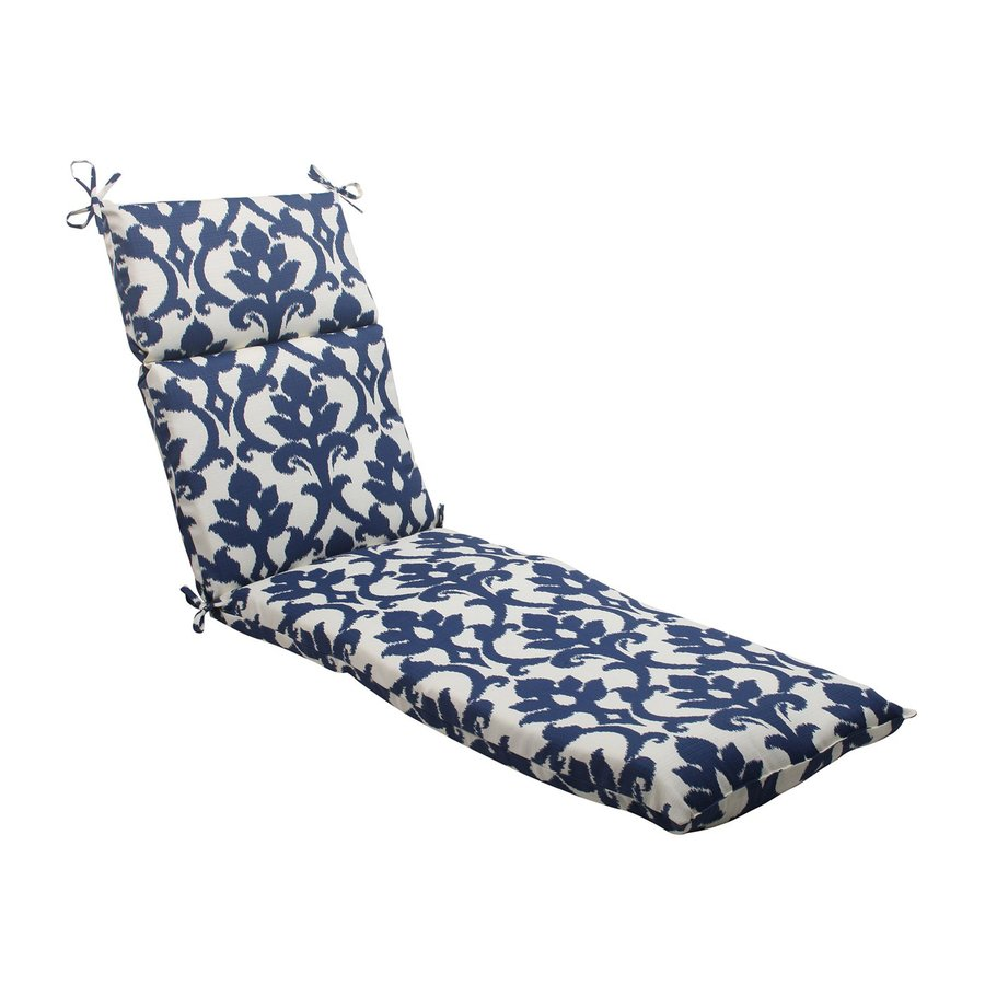 Pillow Perfect Bosco Navy Damask Cushion For Chaise Lounge