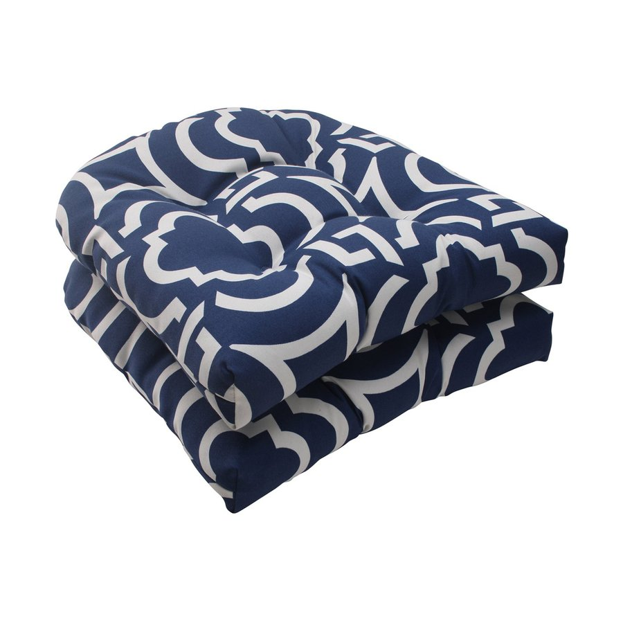 Pillow Perfect Carmody Navy Geometric Seat Pad For Universal