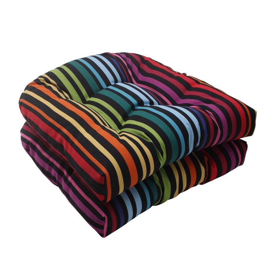 Pillow Perfect Godivan Multicolored Stripe Seat Pad For Universal