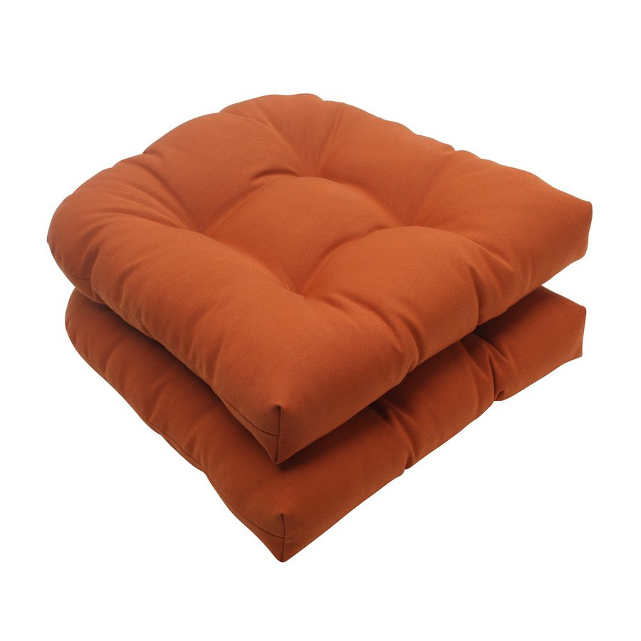 Pillow Perfect Cinnabar Burnt Orange Solid Seat Pad For Universal