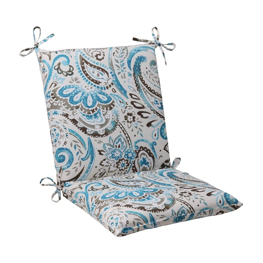 Pillow Perfect Vermilya Tidepool Paisley Cushion For Universal