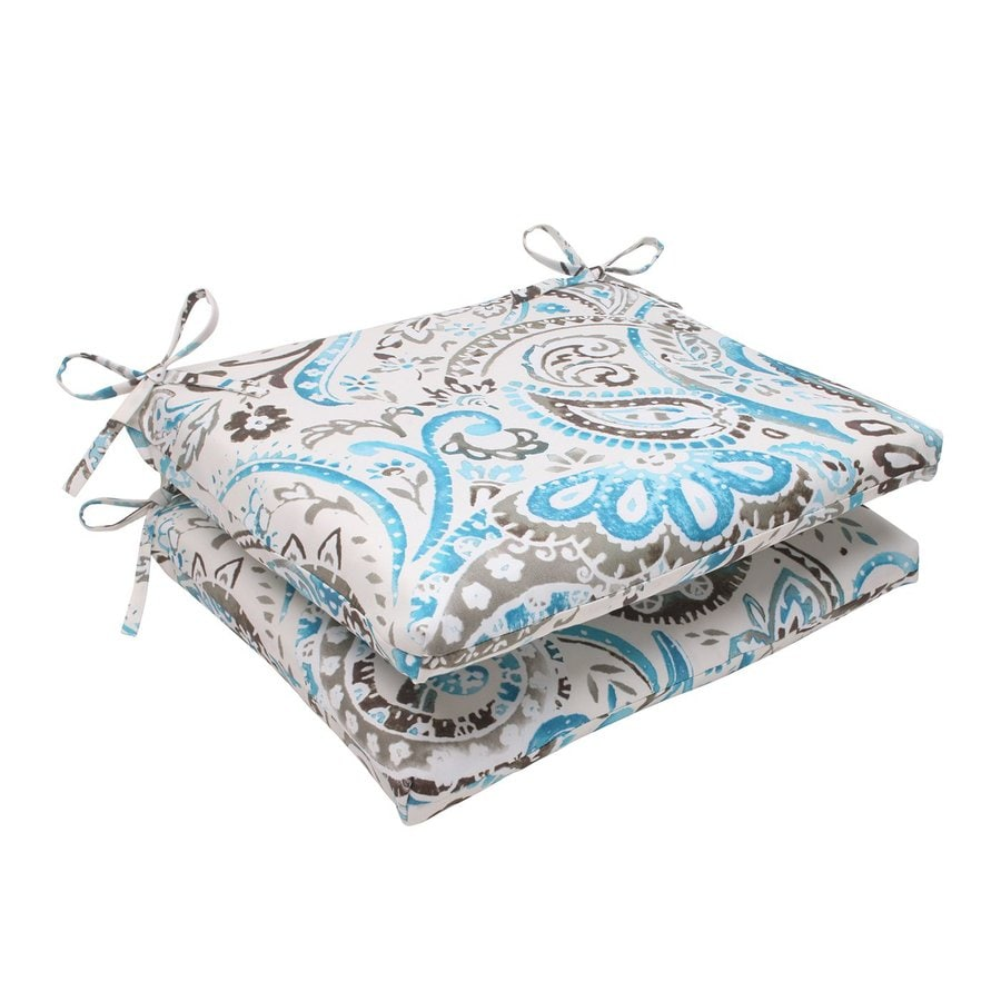 Pillow Perfect Square Paisley Tidepool Unbranded Seat Pad