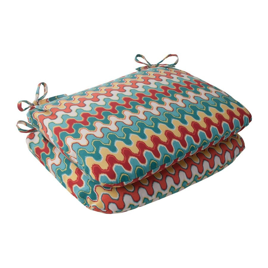 Pillow Perfect Nivala Multicolored Geometric Seat Pad For Universal