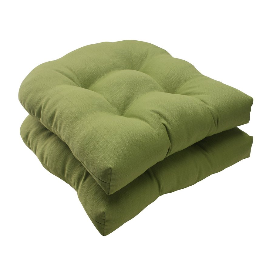 Pillow Perfect Rectangle Solid Green Unbranded Seat Pad