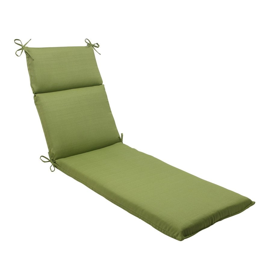 Pillow Perfect Forsyth Green Solid Standard Patio Chair Cushion for Chaise Lounge