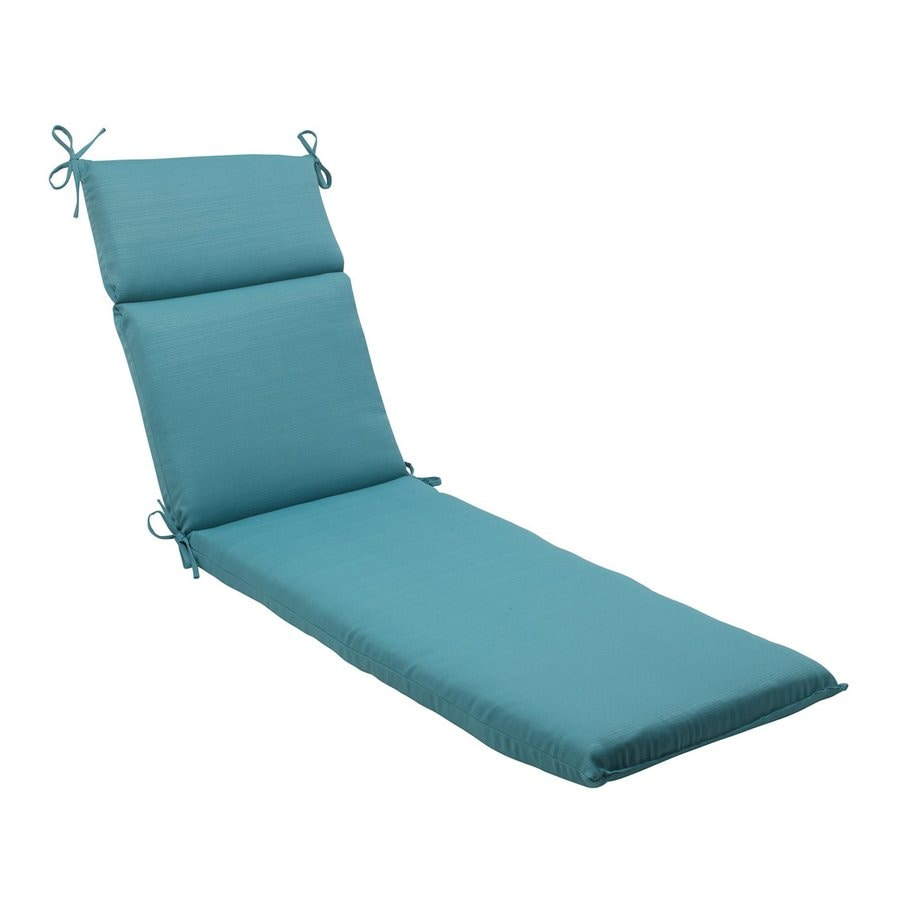 Shop pillow perfect forsyth turquoise solid standard patio for Chaise longue cushion
