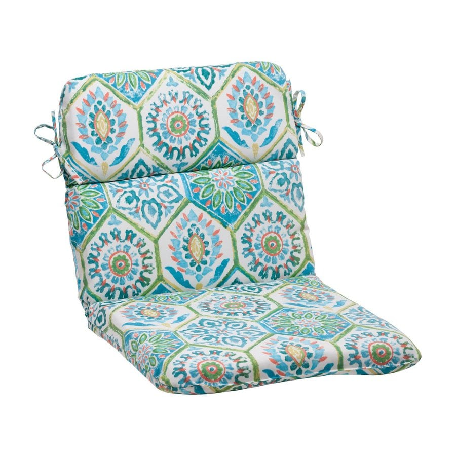 Pillow Perfect Summer Breeze Pool Floral Standard Patio Chair Cushion