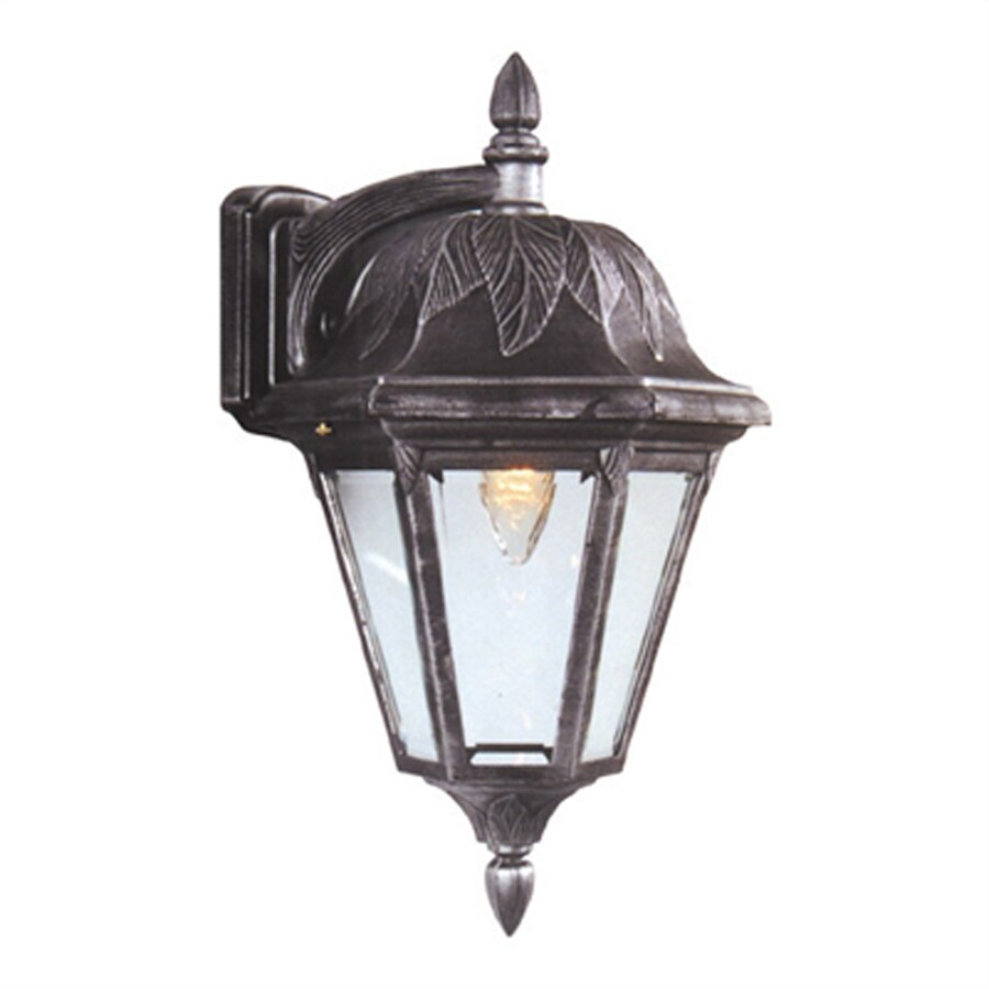 Special Lite Floral 16.5-in H Swedish Silver Medium Base (E-26) Outdoor Wall Light