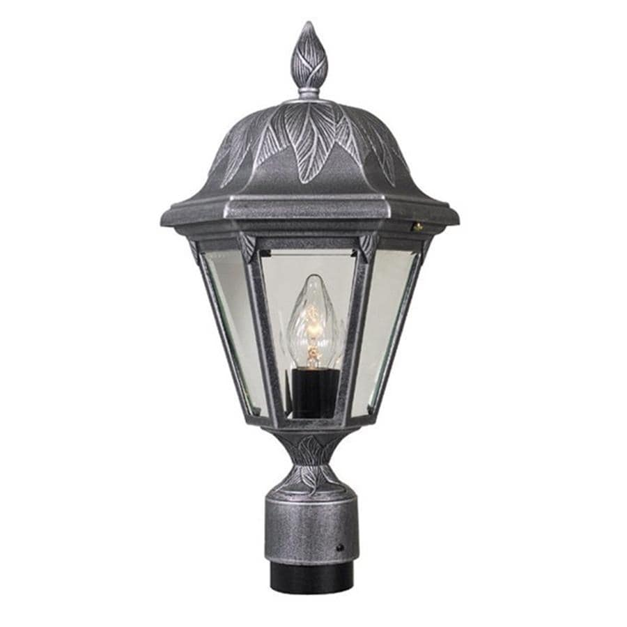 Special Lite Floral 18.75-in H Swedish Silver Post Light