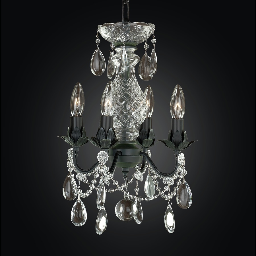 Shop glow lighting beaded fantasy 10 in 4 light midnight Crystal candle chandelier