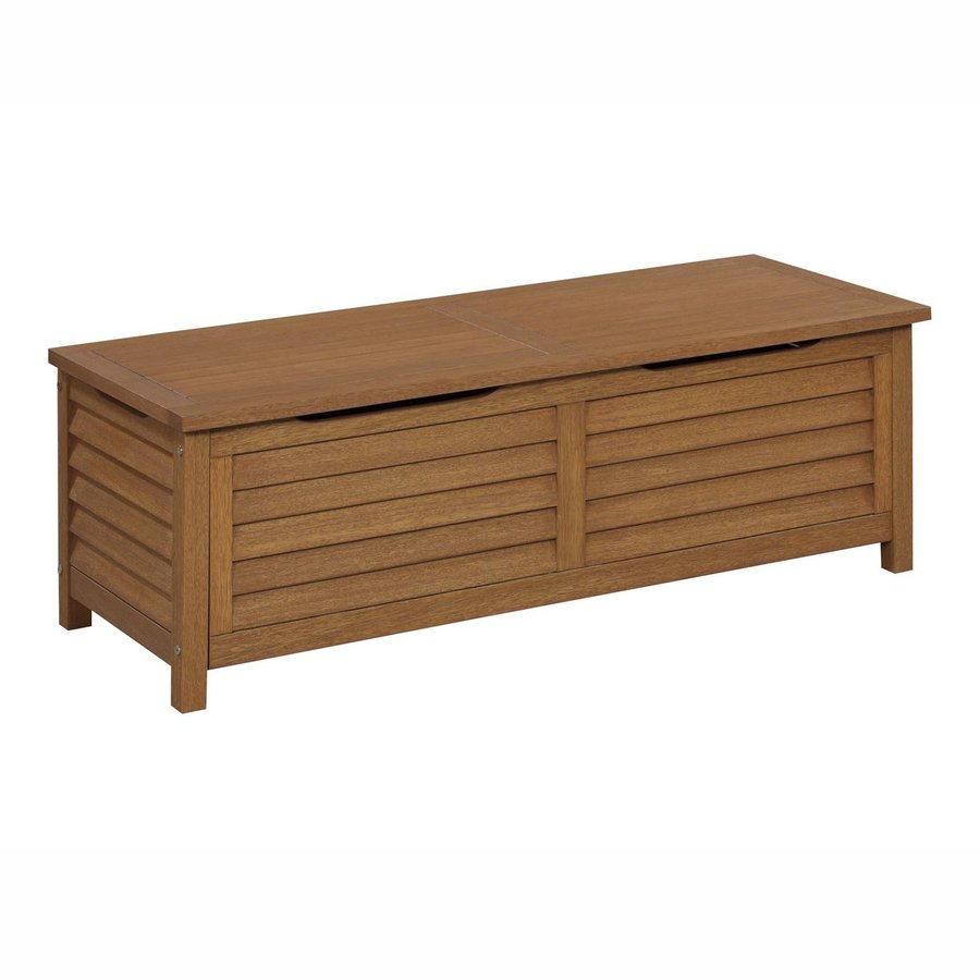 Home Styles Montego Bay 51.25-in L x 19.75-in W Eucalyptus Wood Deck Box