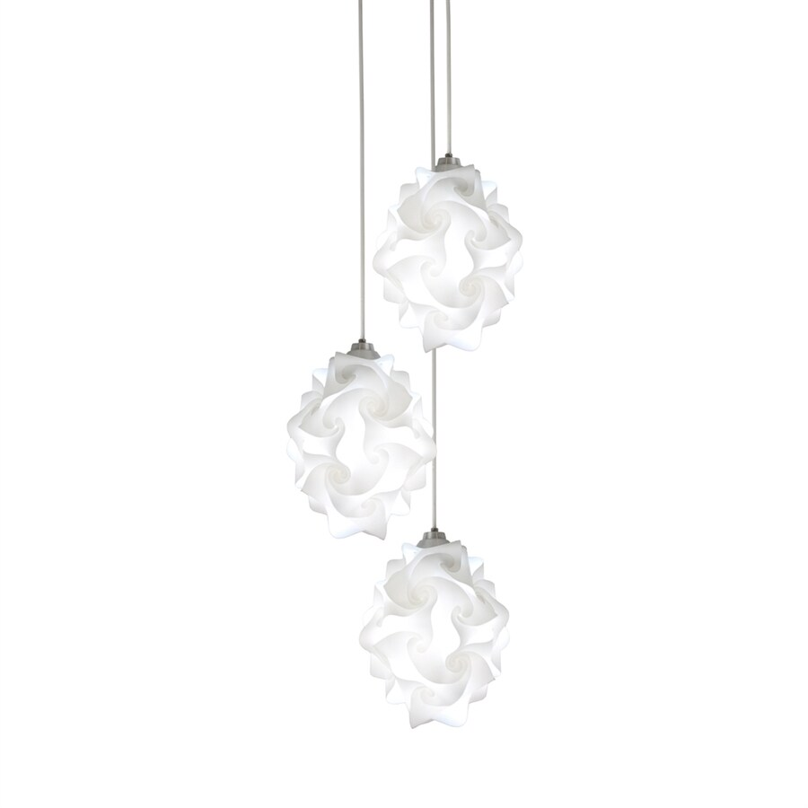 EQLight Chi 12-in Silver Hardwired Multi-Light Orb Pendant