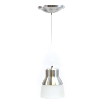 It S Exciting Lighting 7 In W Nickel Led Mini Pendant Light