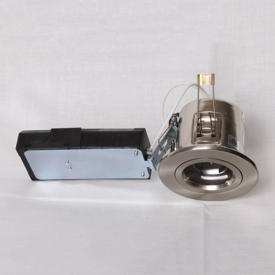Twice Bright Lighting Brushed Nickel New Construction Recessed Light Kit (Fits Opening: 3-In)
