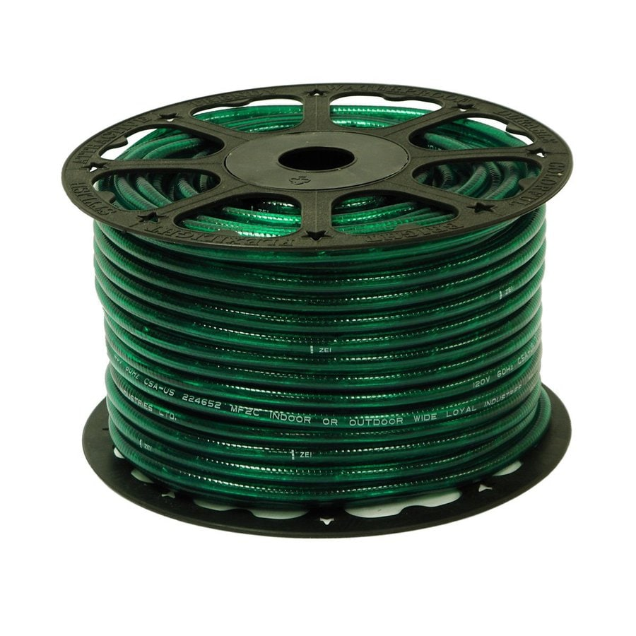Wide Loyal Wide Loyal Green Incandescent Rope Light (Actual: 300-ft)