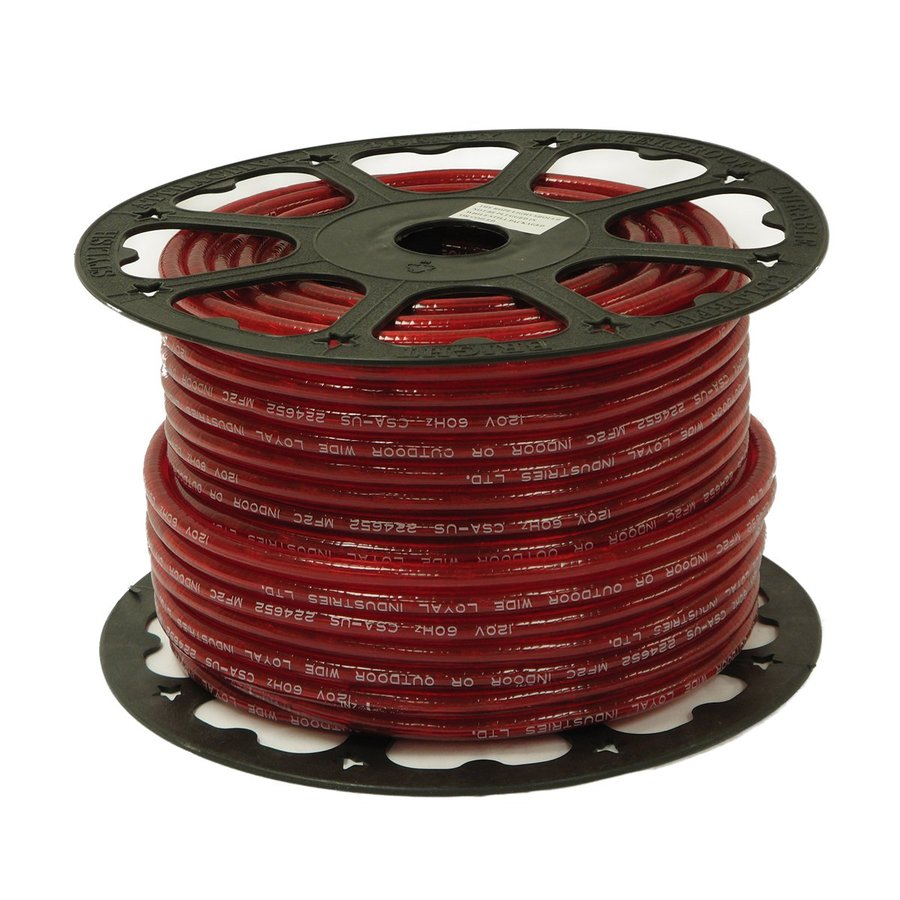 Wide Loyal Wide Loyal Red Incandescent Rope Light (Actual: 300-ft)
