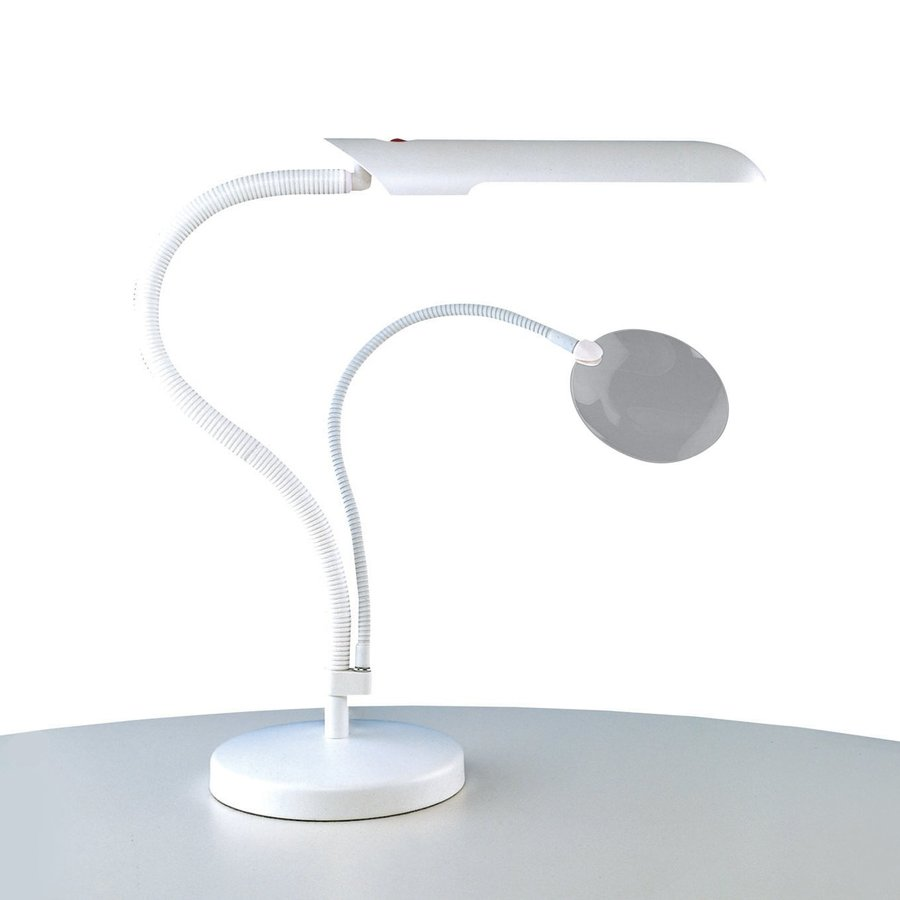 Daylight Company Art And Craft 23 6 In Adjule White Desk Lamp With Plastic Shade