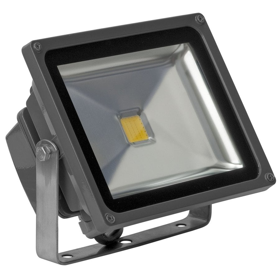E-LED Lighting 7.28-in 1-Head Led Grey Switch-Controlled Flood Light