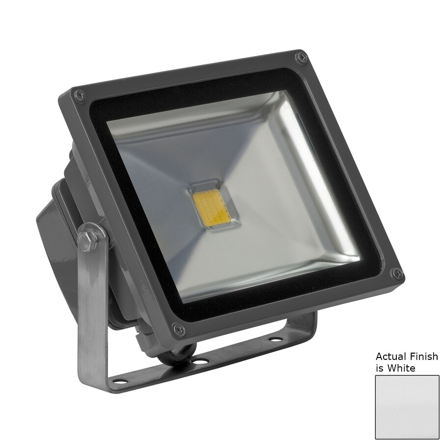 E-LED Lighting 7.28-in 1-Head LED White Switch-Controlled Flood Light