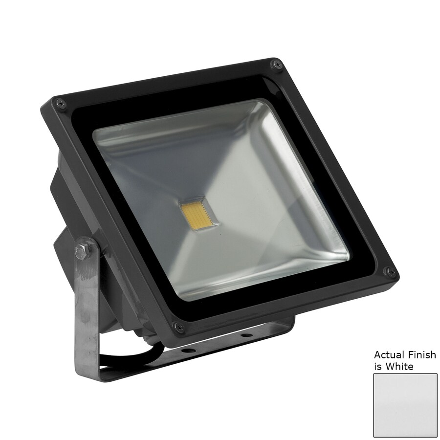 E-LED Lighting 9.29-in 1-Head LED White Switch-Controlled Flood Light