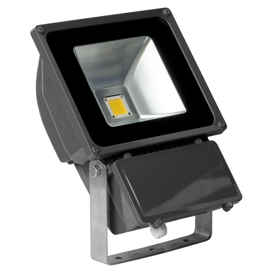 E-LED Lighting 14.17-in 1-Head Led Grey Switch-Controlled Flood Light