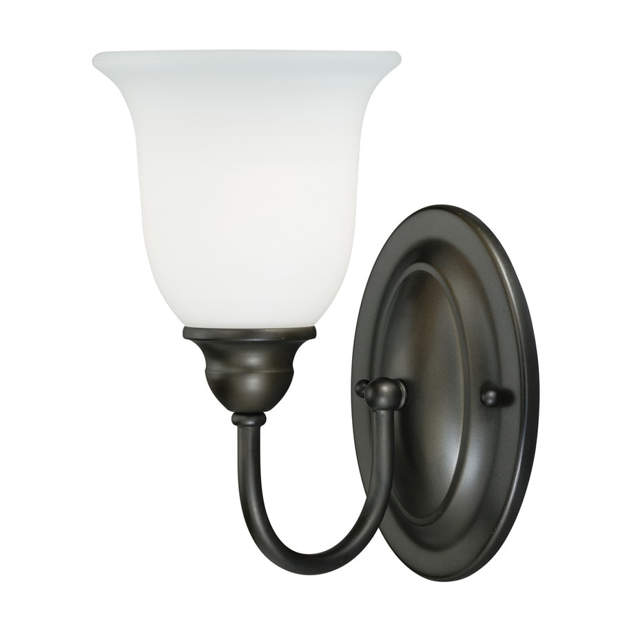 Cascadia Concord 1-Light 11-in Oil Rubbed Bronze Bell Vanity Light
