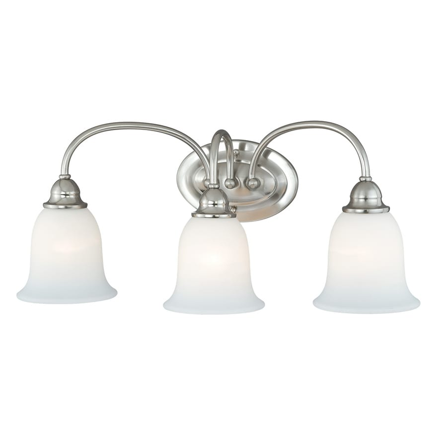 Cascadia Concord 3-Light 10.5-in Satin nickel Bell Vanity Light