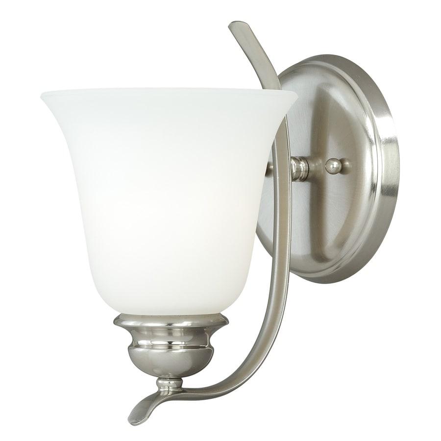 Cascadia Darby 1-Light 9.25-in Satin Nickel Bell Vanity Light